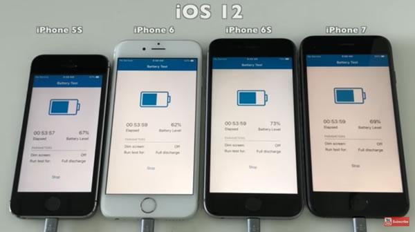 视频实锤升级iOS 12会减少电池工作时长